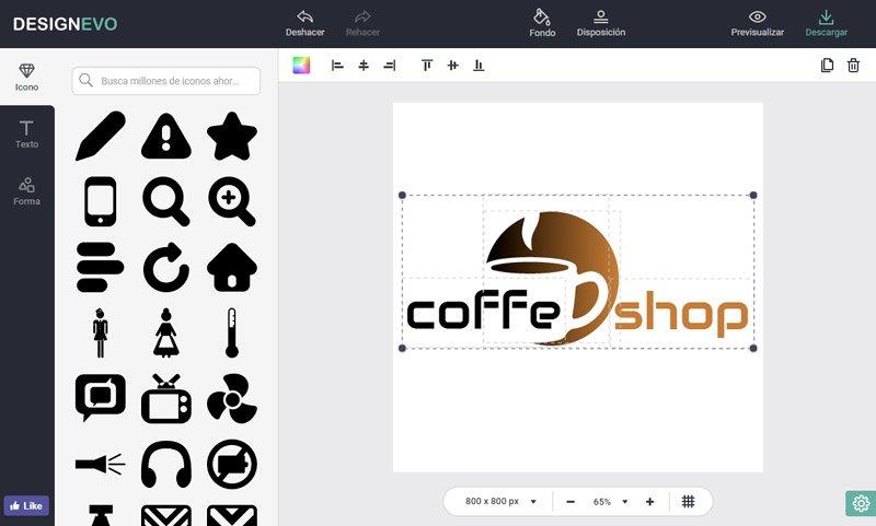 como crear un logotipo app