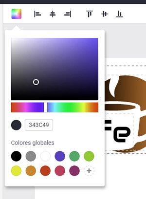 alineación DESIGNEVO crear logo gratis