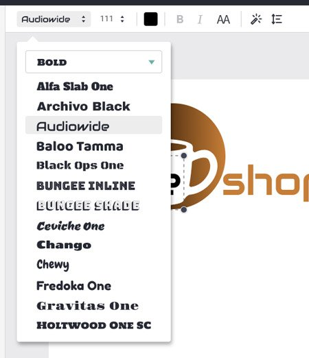 texto DESIGNEVO crear logo gratis