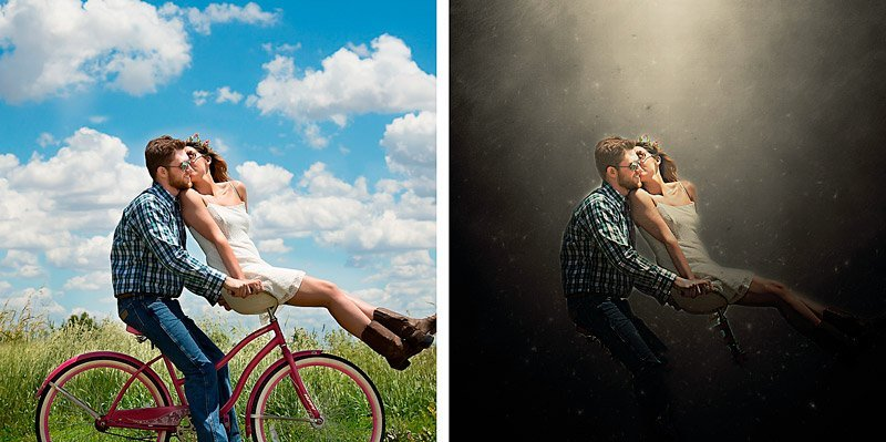 fantasy photo action bycicle
