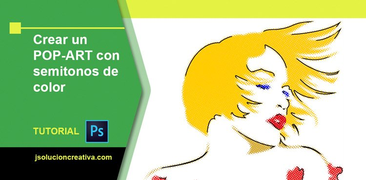 semitonos de color y diseño pop art