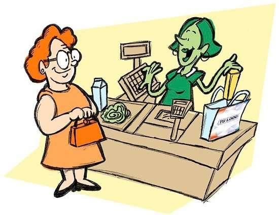 bolsa de papel para publicidad en el pequeño comercio