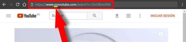 URL con ss para descargar vídeos de YouTube
