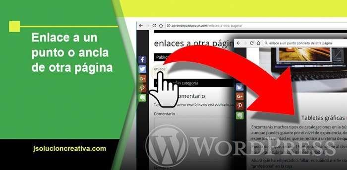 Cómo crear un enlace a un punto o ancla de otra página en WordPress