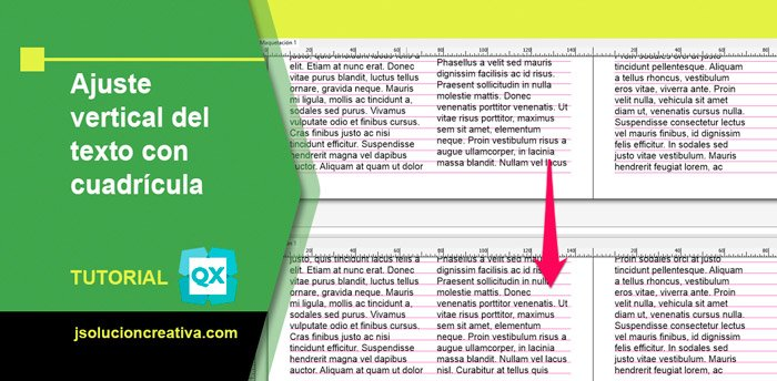 Ajuste del texto con cuadrícula en QuarkXPress