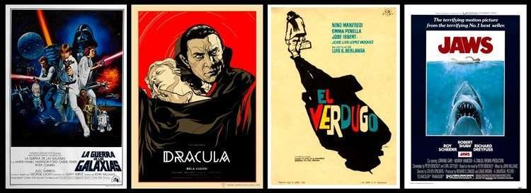 carteles de peliculas de cine. estudiar y aprender diseño