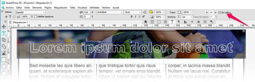 Añadir un borde o contorno al texto sobre una imagen