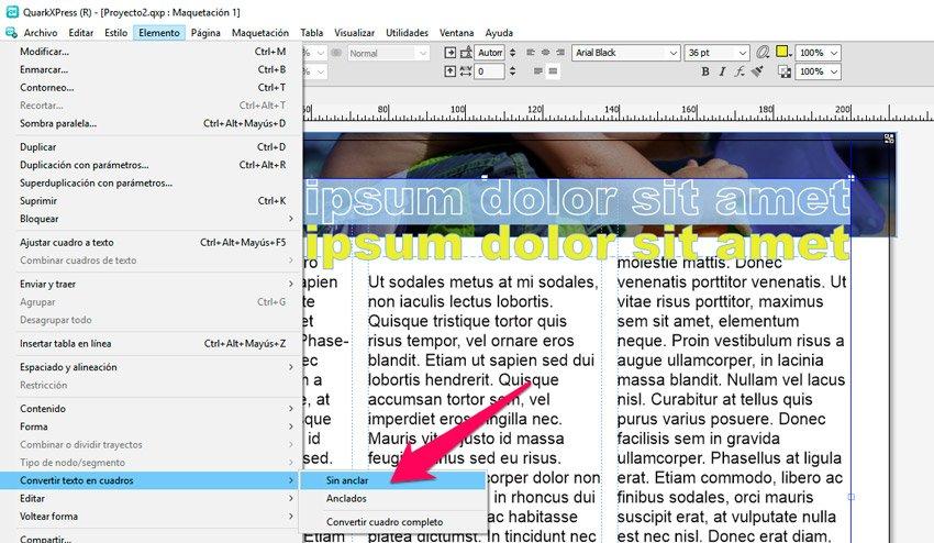 Añadir un borde o contorno al texto transparente