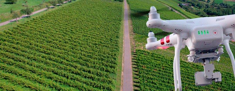 Grabación con drones en agricultura de precisión