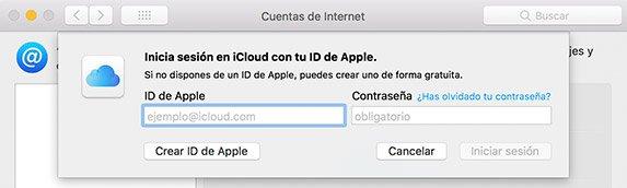 Nombre de cuenta en Mac. ID de Apple