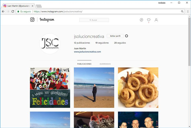 publicar en Instagram desde chrome