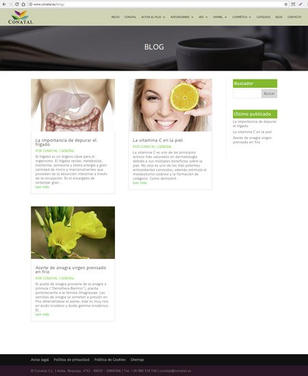 blog de productos naturales Conatal.