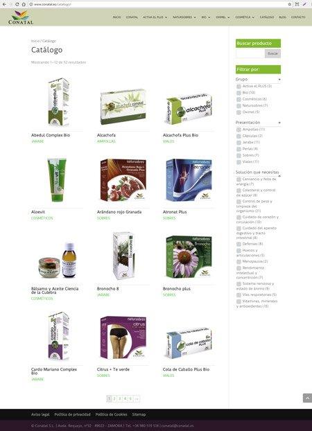 catalogo de complementos naturales alimenticios