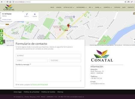 formulario de contacto en Divi de Contal
