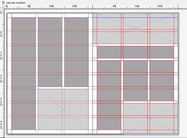 composición basada en retícula modular de QuarkxPress
