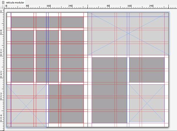 composición basada en retícula modular de QuarkxPress 2