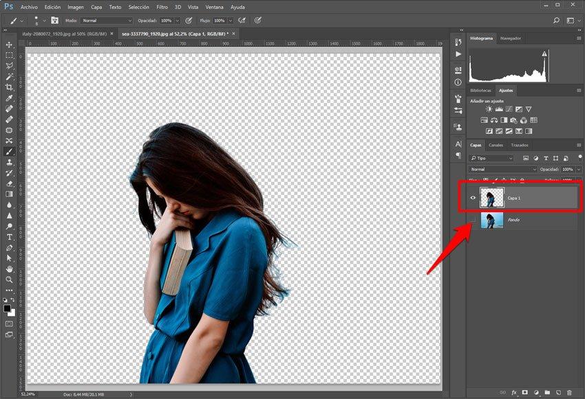 Recorte de imagen para doble exposición