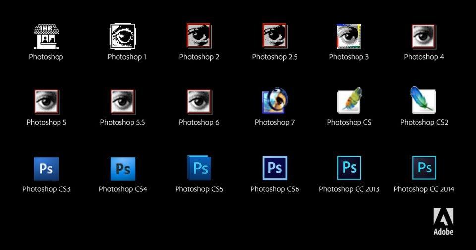 Iconos de las versiones de Photoshop