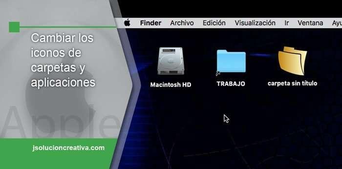 Cambiar los iconos de las carpetas o aplicaciones en Mac