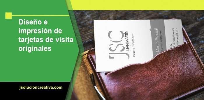 Diseño e impresión de tarjetas de visita originales