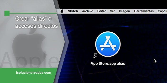crear accesos directos o alias en Mac
