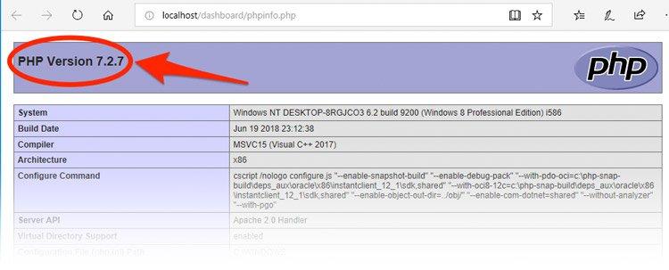 actualizar php en xampp a la última versión