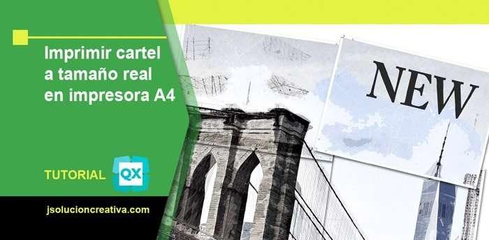 Cómo imprimir un póster o cartel a tamaño real en impresora A4 con QuarkXPress