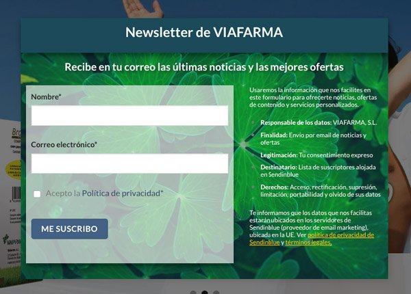 Pop Up para Newsletter