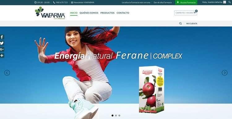 Diseño web de productos para farmacias y particulares