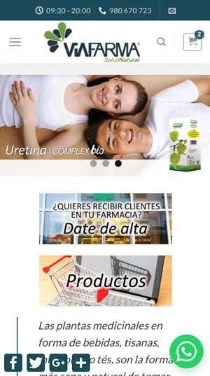 Viafarma Ecológica en el móvil