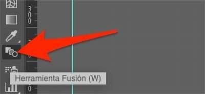 herramienta fusión de Illustrator