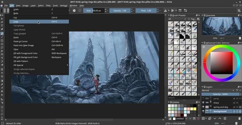 Krita, programa para pintar con tabletas gráficas