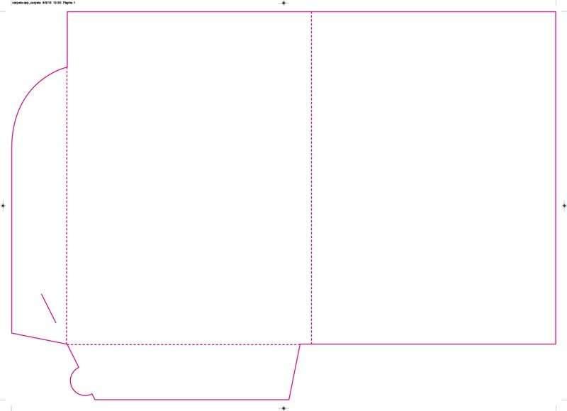 PDF del troquel creado en QuarkXPress