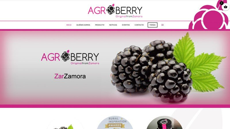 Web zarzamoras Agroberry - Original from Zamora