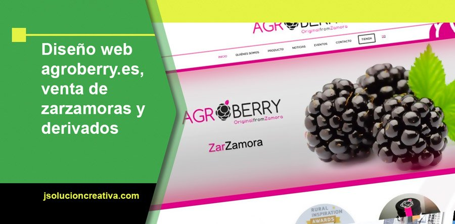Web zarzamoras Agroberry - Original from Zamora