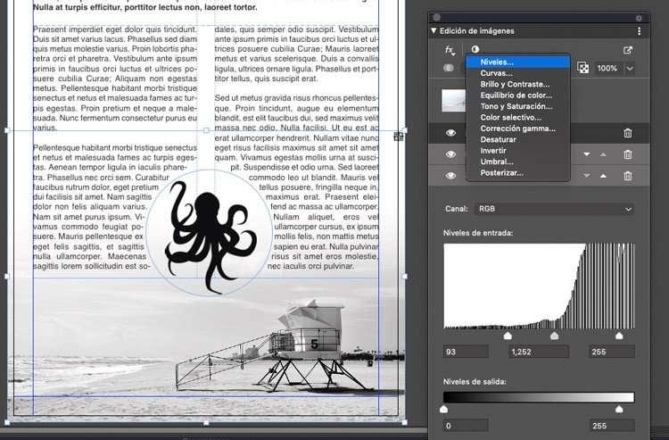 Ajuste de niveles en documento a una tinta en Quark