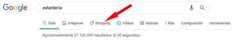 """Buscador de productos """"Google Shopping"""""""