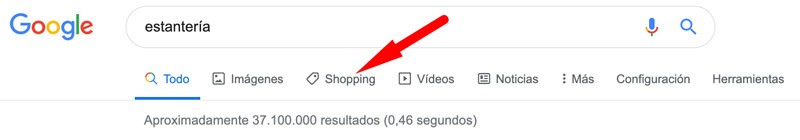 "Buscador de productos ""Google Shopping"""