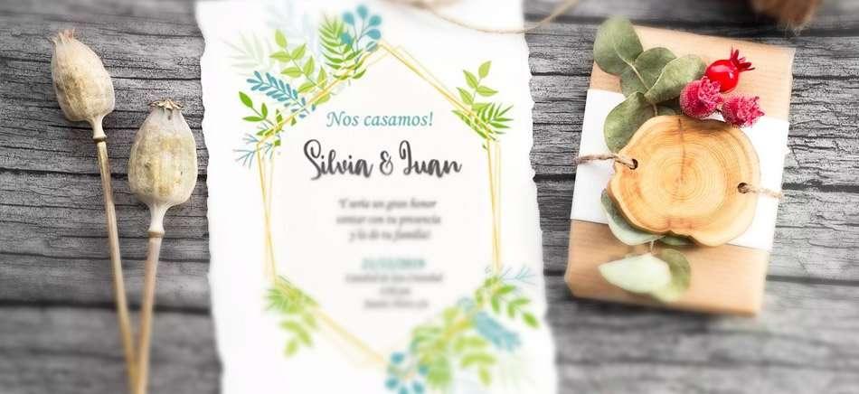 Invitación de boda personalizable