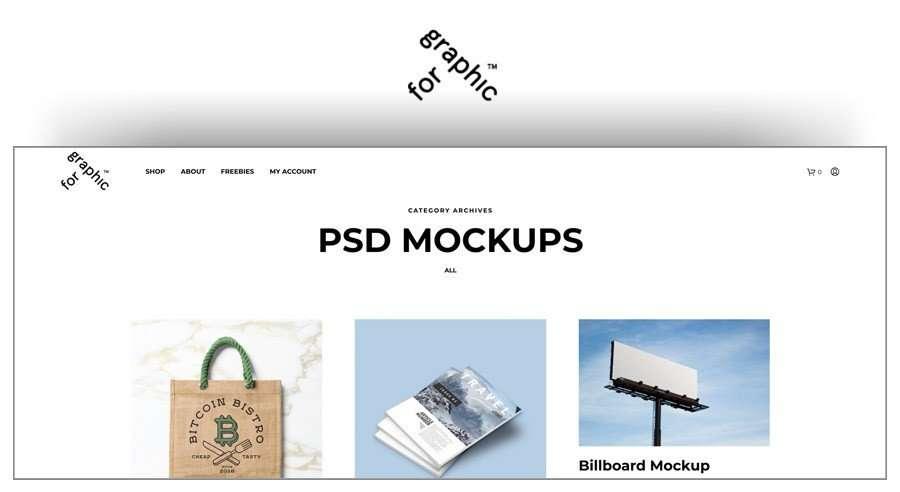For Graphic sitios para descargar mockups