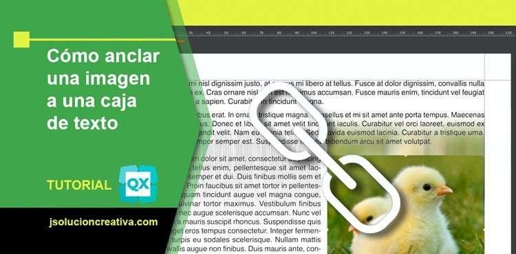Anclar imagen al texto en QuarkXPress