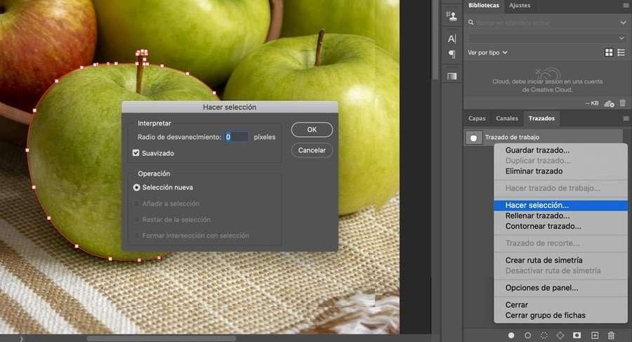 Hacer selección al siluetear un objeto en Photoshop
