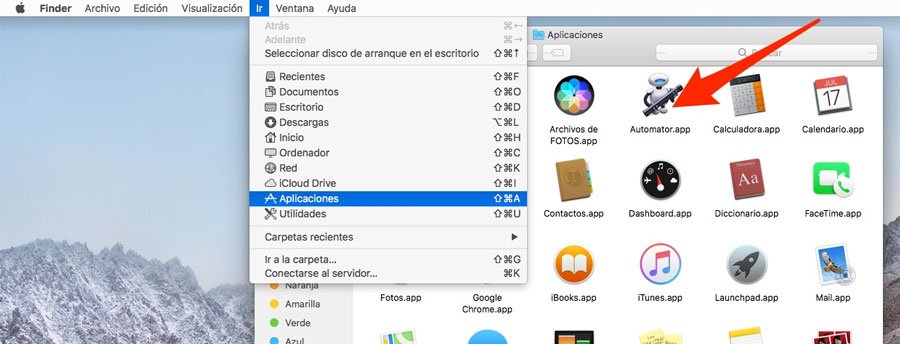 Carpeta aplicaciones de Mac