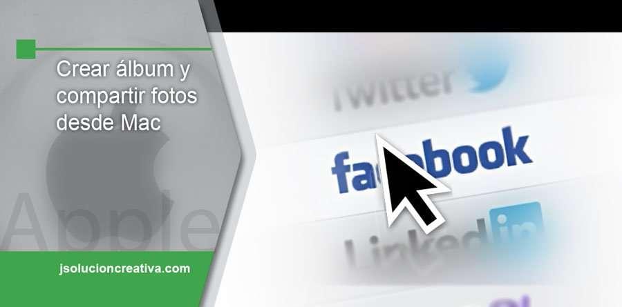 Compartir imágenes en Facebook desde Mac