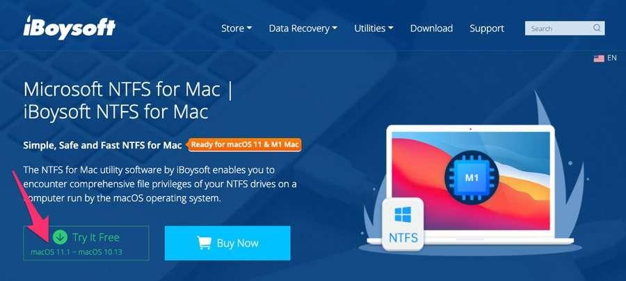 Descargar versión de prueba de iBoysoft fot Mac