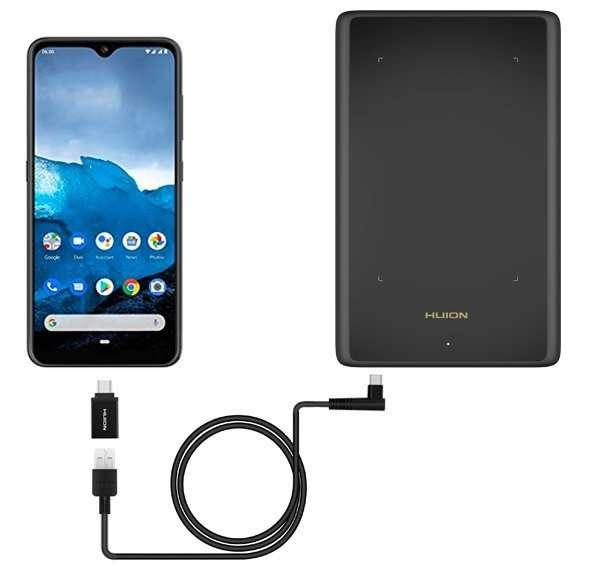 Conexión de la tableta gráfica H420X al móvil