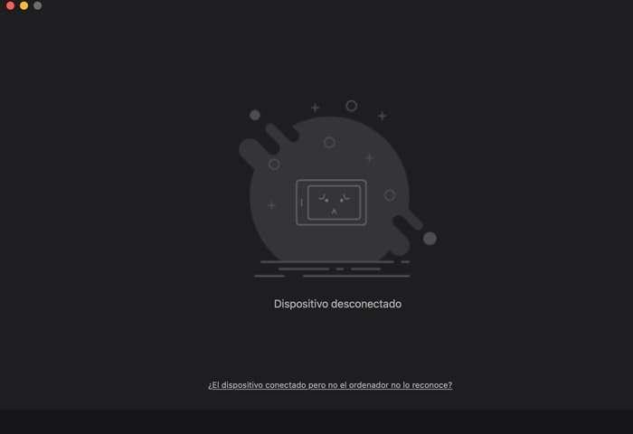 Dispositivo HUION desconectado